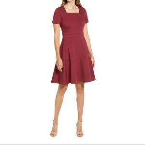 NEW Rachel Parcell Square Neck Fit & Flare Dress